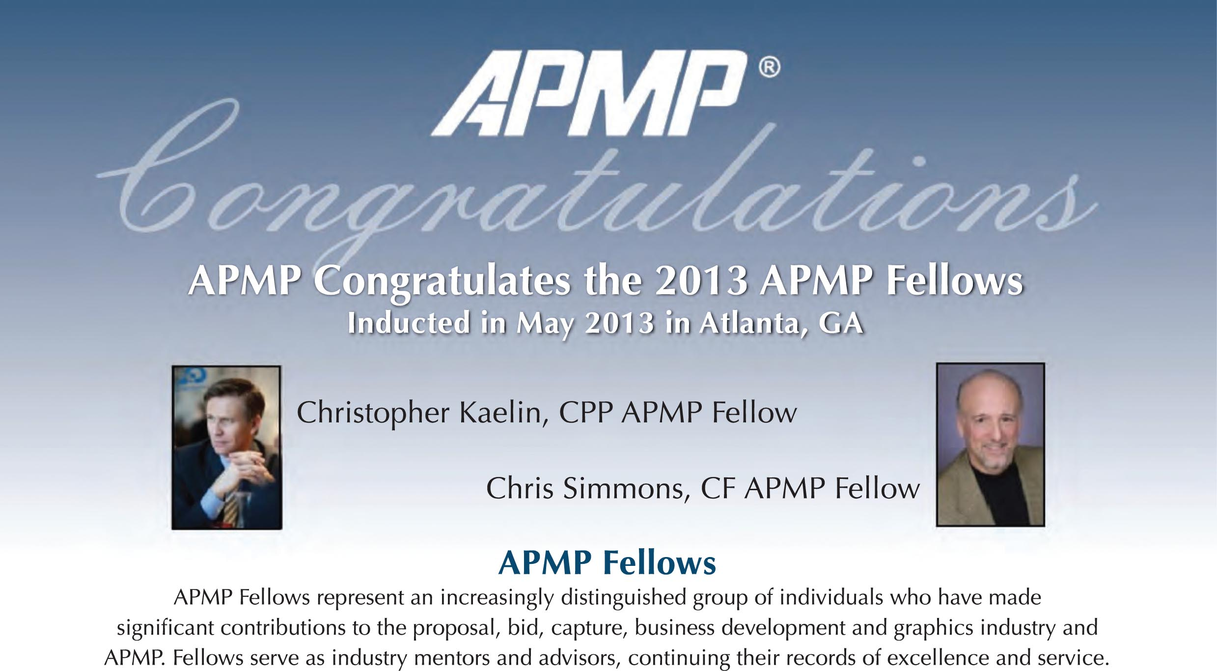 20130530 Chris Kaelin Fellow Award